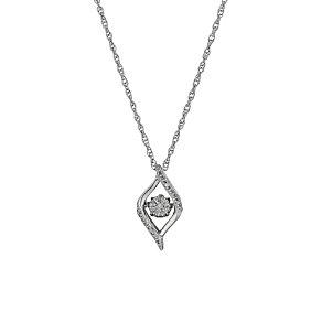 Diamonds in Rhythm Diamond Cluster Twist Pendant - Product number 3087190