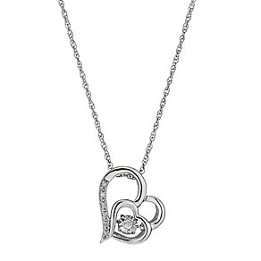 Diamonds in Rhythm Diamond Double Heart Pendant - Product number 3087212