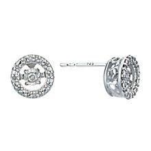 Diamonds In Rhythm Sterling Silver Diamond Stud Earrings - Product number 3087220