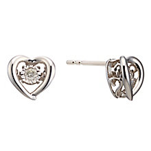 Diamonds In Rhythm Sterling Silver Diamond Stud Earrings - Product number 3087239