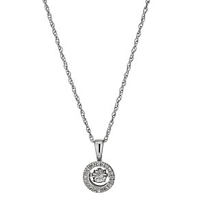 Diamonds in Rhythm Round Illusion Set Diamond Pendant - Product number 3088685