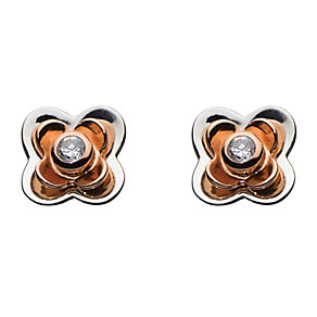 Kit Heath Silver & Rose Gold Plate Cubic Zirconia Earrings - Product number 3091503