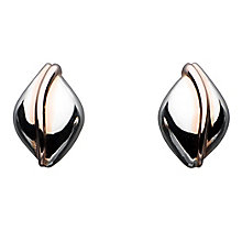 Kit Heath Silver & Rose Gold Plated Stripe Stud Earrings - Product number 3091511