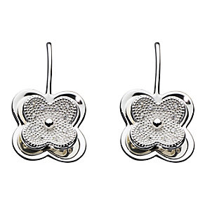 Kit Health Frosted Silver Layered Flower Drop Earrings - Product number 3091546