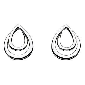 Kit Heath Silver Twist Teardrop Stud Earrings - Product number 3091562