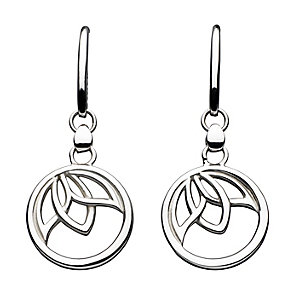 Kit Heath Silver Leaf Design Drop Earrings - Product number 3091570