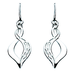 Kit Heath Silver Filigree Figure of Eight Drop Earrings - Product number 3091694