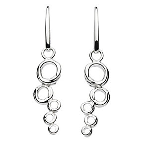 Kit Heath Sterling Silver Bubble Design Drop Earrings - Product number 3091716