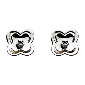 Kit Heath Sterling Silver Double Layer Flower Stud Earrings - Product number 3091740