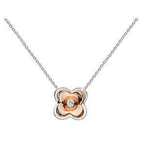 Kit Heath Silver & Rose Gold Plate Cubic Zirconia Pendant - Product number 3091856