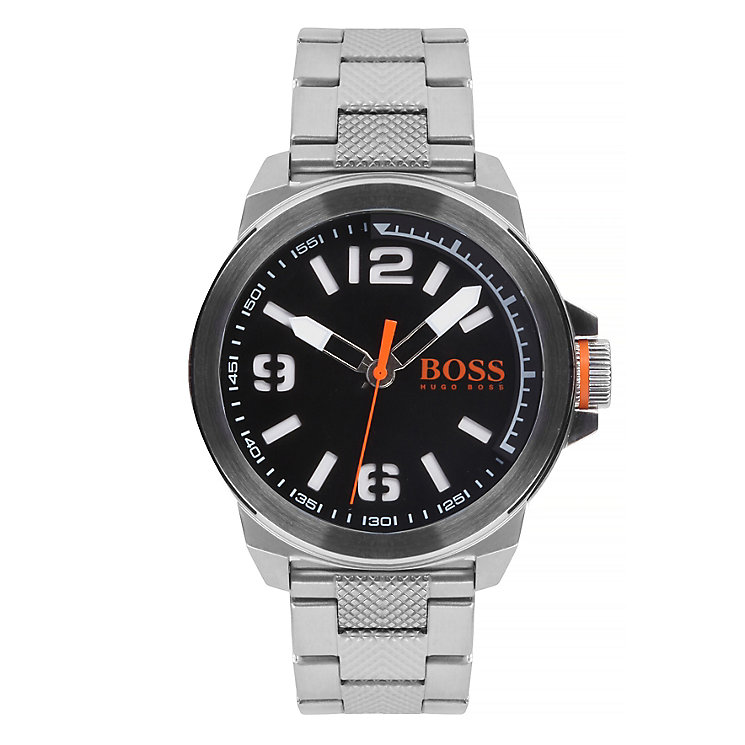 Boss Orange Men's Black Dial Stainless Steel Bracelet Watch - Product number 3092224
