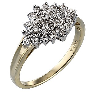 9ct Gold Half Carat Diamond Ring