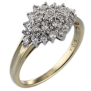 9ct Gold Half Carat Diamond Ring - Product number 3092372