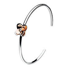 Kit Heath Silver & Rose Gold Plate Cubic Zirconia Bangle - Product number 3092895