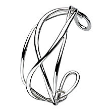 Kit Heath Sterling Silver Twist Crossover Bangle - Product number 3092933