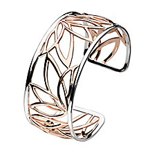 Kit Heath Silver & Rose Gold Pleated Leaf Bangle - Product number 3092984