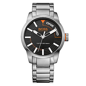 Boss Orange Men's Black Dial Stainless Steel Bracelet Watch - Product number 3093166