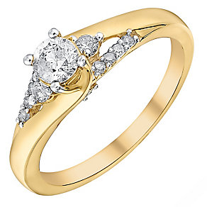 9ct Yellow Gold 2/5 Carat Diamond Ring - Product number 3094553