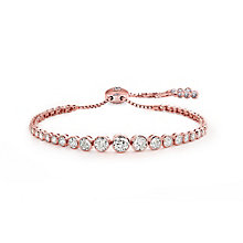 Carat Millennium Brilliants Rose Gold Plated Silver Bracelet - Product number 3095053