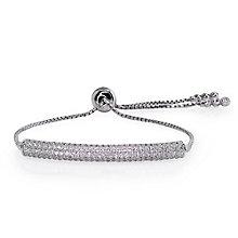 Carat Millennium Brilliants sterling silver slider bracelet - Product number 3095061