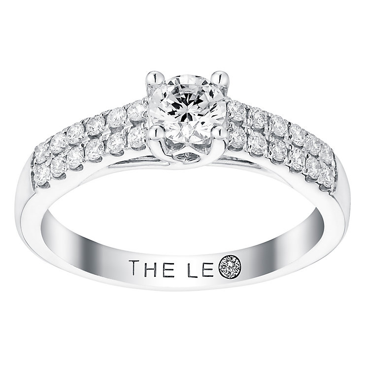 Leo Diamond 18ct white gold 0.66ct diamond solitaire ring - Product number 3096777