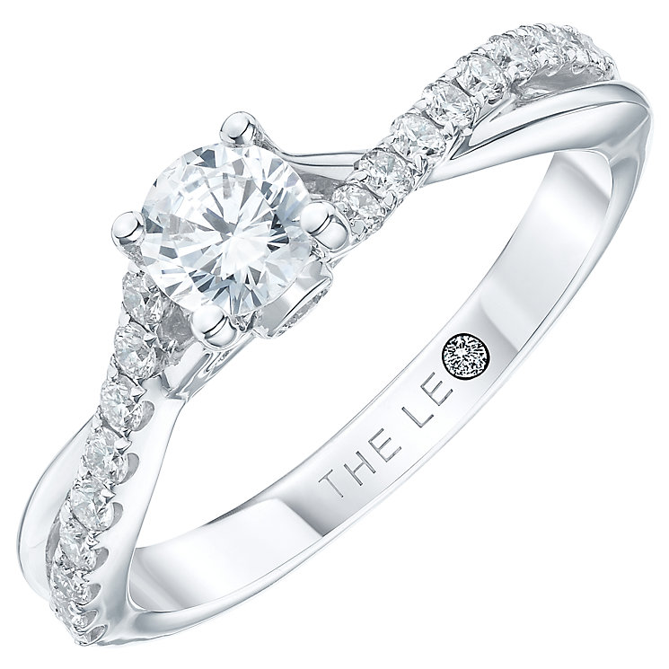 Leo Diamond 18ct white gold 0.66ct diamond ring - Product number 3098761