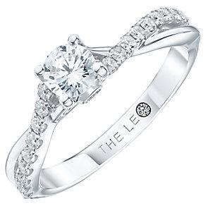Leo Diamond 18ct white gold 0.66ct diamond ring - Product number 3098761