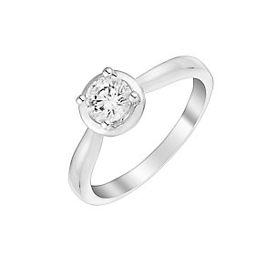 9ct white gold 50pt diamond solitaire ring - Product number 3106640