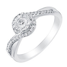 9ct white gold 25pt illusion set solitaire diamond ring - Product number 3107892