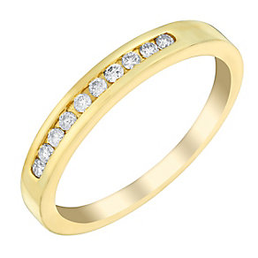 18ct gold 15pt diamond eternity ring - Product number 3108880