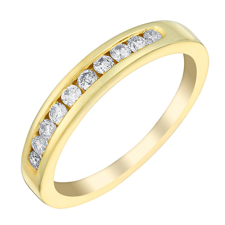 18ct gold 25pt diamond eternity ring - Product number 3109011