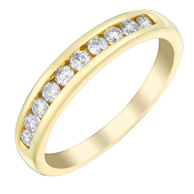 18ct gold 33pt diamond eternity ring - Product number 3109216