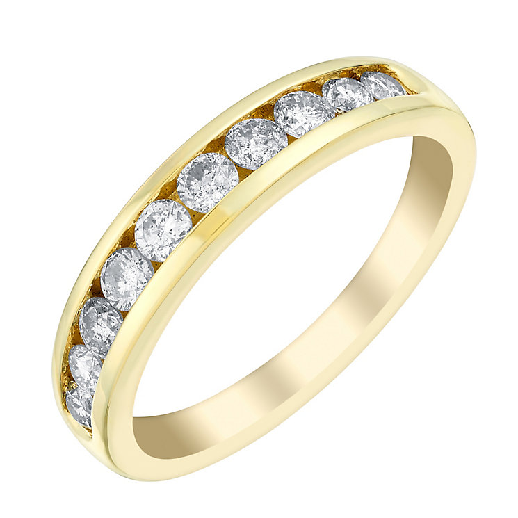 18ct gold half carat diamond eternity ring - Product number 3109364
