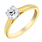 18ct gold 66pt claw set solitaire diamond ring - Product number 3111016