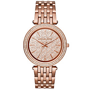 Michael Kors Darci ladies' rose gold-plated bracelet watch - Product number 3119300