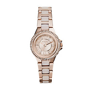 Michael Kors Camille ladies' rose gold-plated bracelet watch - Product number 3119319