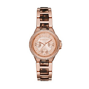 Michael Kors Camille ladies' rose gold-plated bracelet watch - Product number 3119351