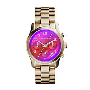 Michael Kors Runway ladies' gold-plated bracelet watch - Product number 3119378