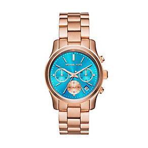 Michael Kors Runway ladies' rose gold-plated bracelet watch - Product number 3119513