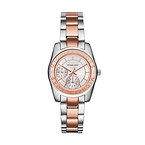 Michael Kors Ryland two colour silver dial bracelet watch - Product number 3120481