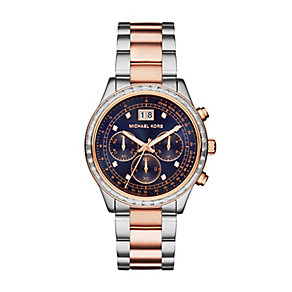Michael Kors Brinkley two colour navy dial bracelet watch - Product number 3120996