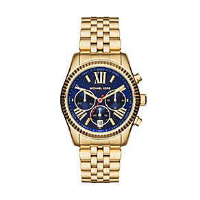 Michael Kors Lexington ladies' gold-plated bracelet watch - Product number 3121186
