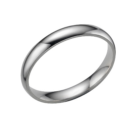 Platinum extra heavy 3mm court ring