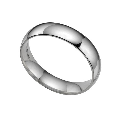 Platinum extra heavy 5mm court ring
