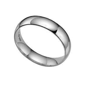 Platinum extra heavy 5mm court ring - Product number 3121496