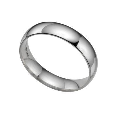 Platinum extra heavy 5mm court ring Ernest Jones