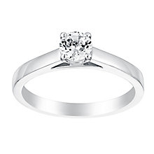 18ct white gold 40pt claw set solitaire diamond ring - Product number 3141586