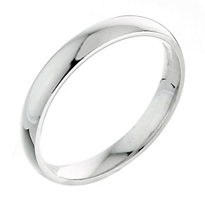 9ct white gold extra heavy 3mm court ring - Product number 3149471