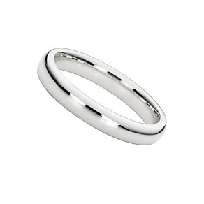 18ct white gold super heavy 3mm court ring - Product number 3149501