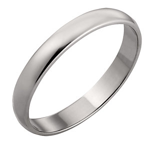 9ct White Gold 3mm Court Wedding Ring - Product number 3152596